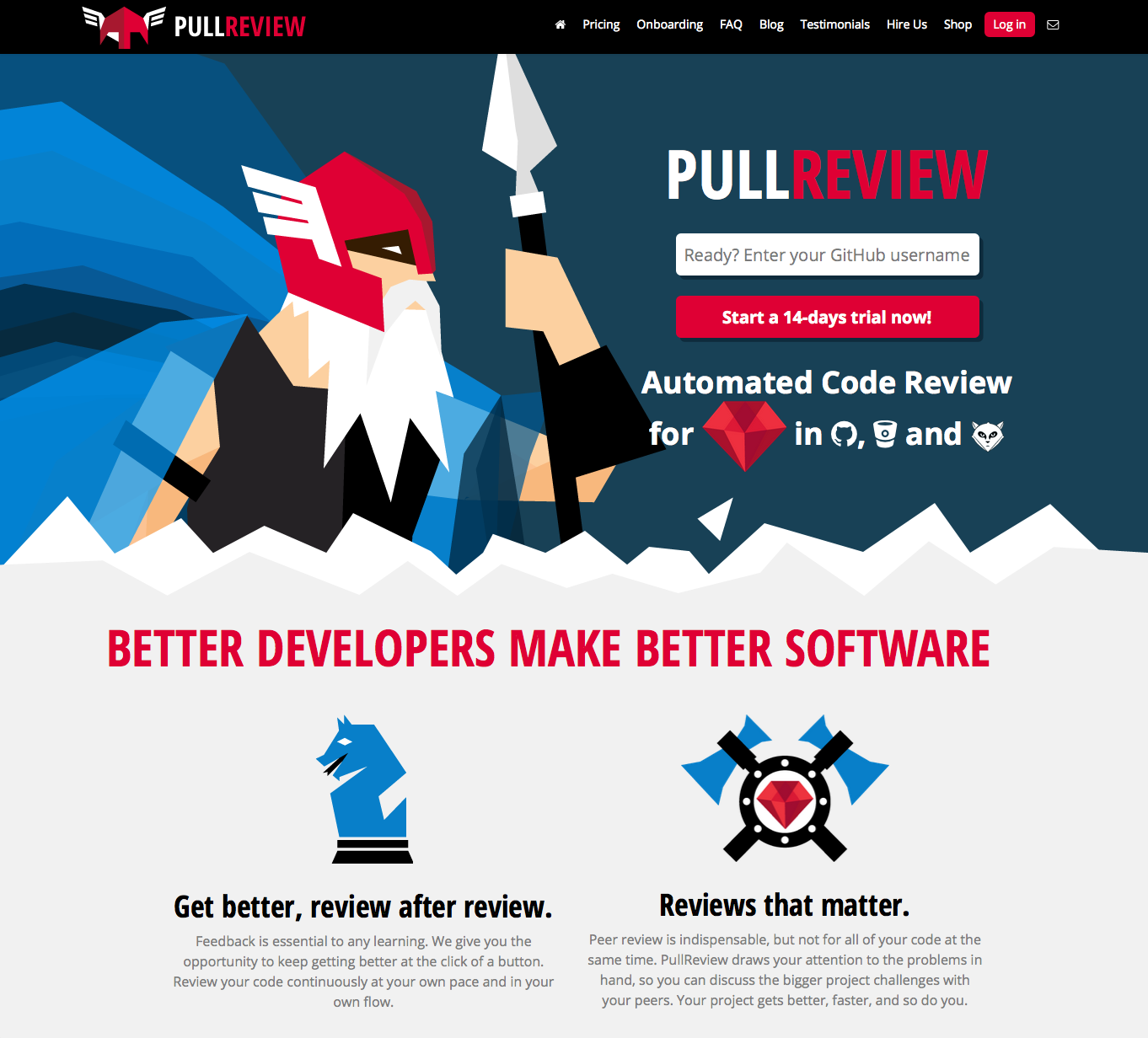 Pullreview homepage