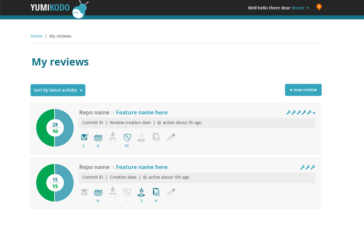 Pullreview UI version 1